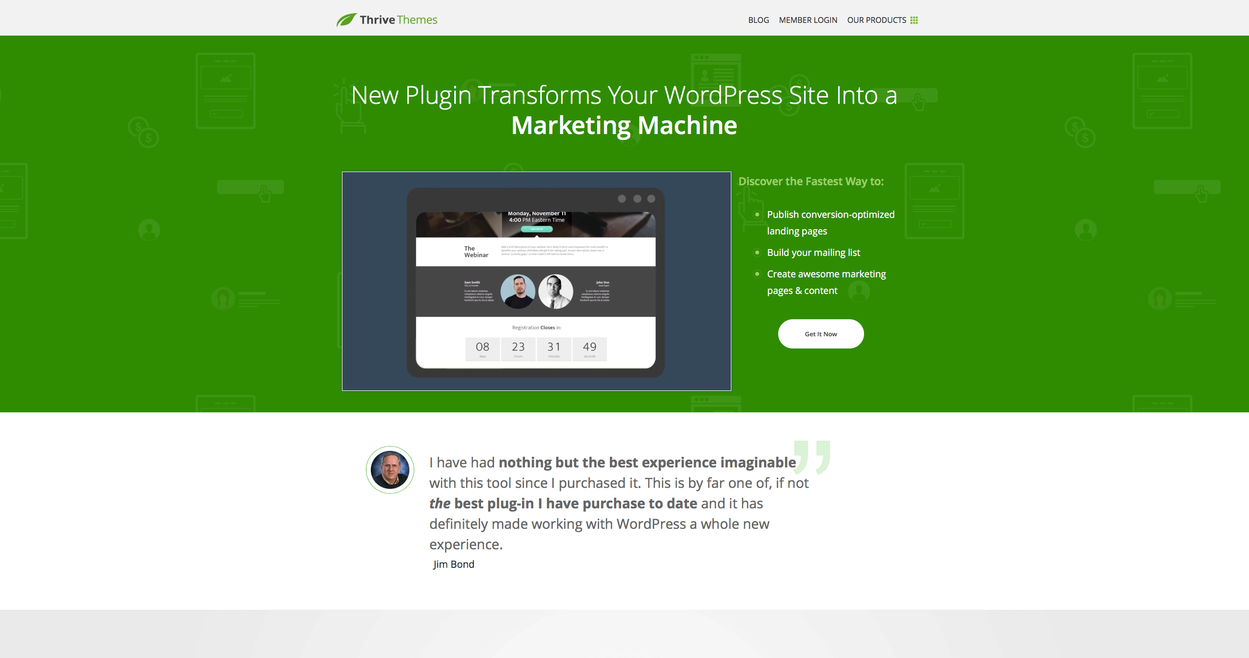 ThriveThemes landing page builder