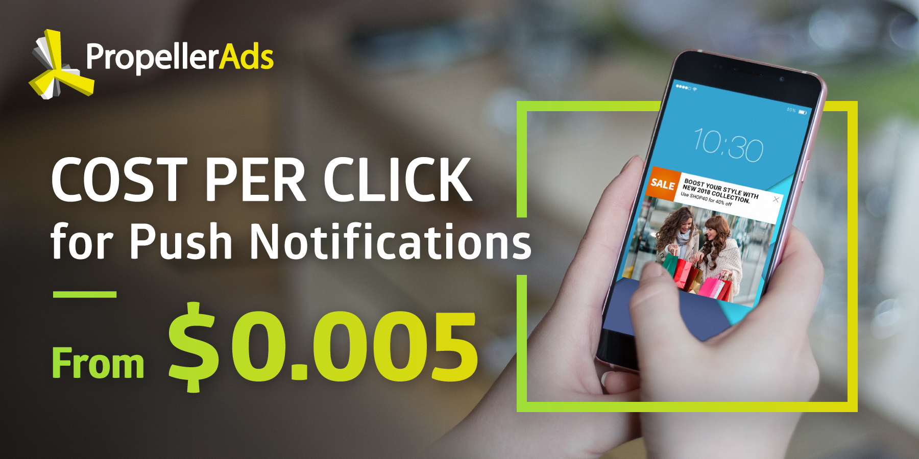 ew Bidding Model! Cost per Click is Now Available for Native Push Notifications