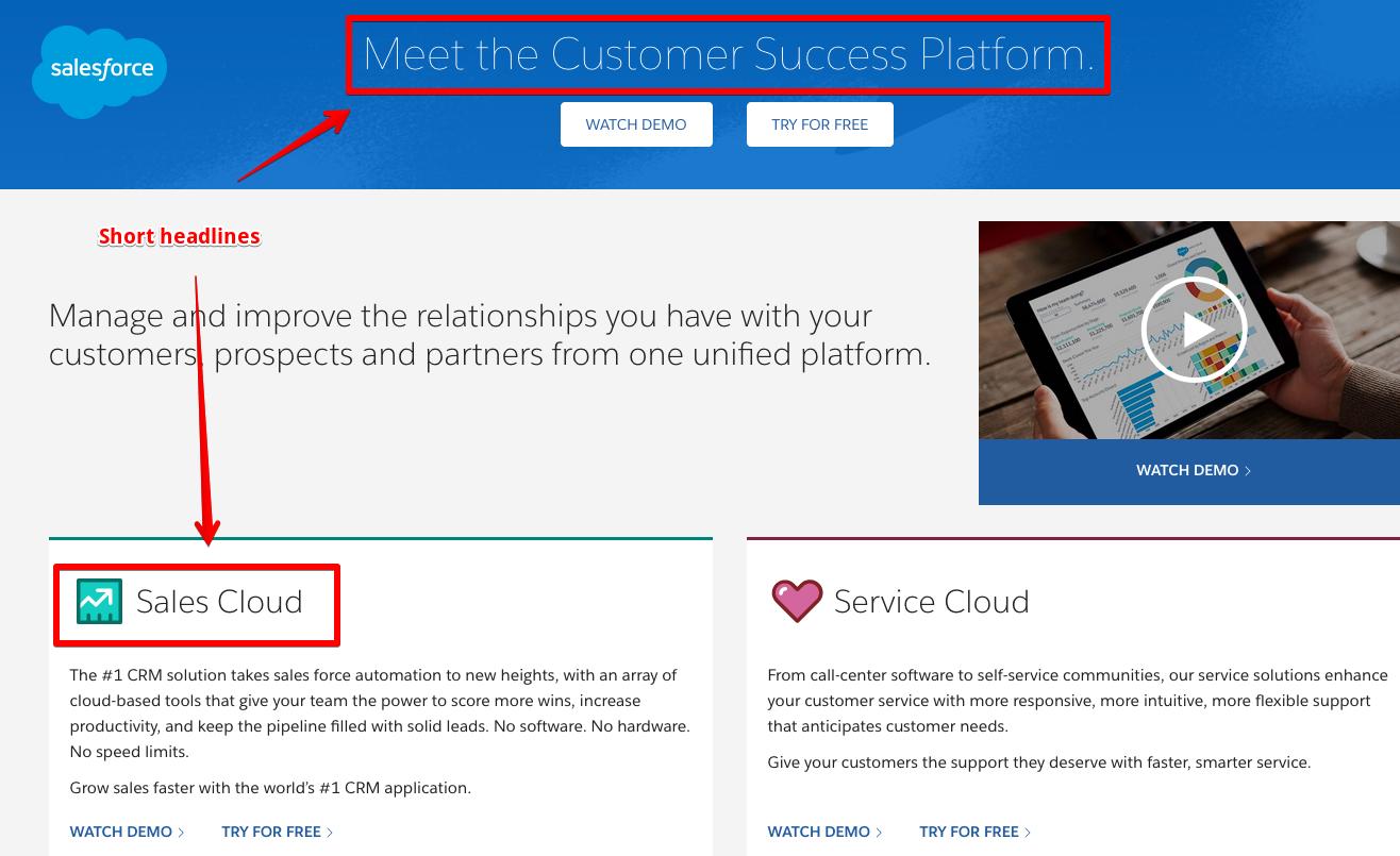 Salesforce page