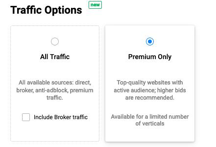traffic options