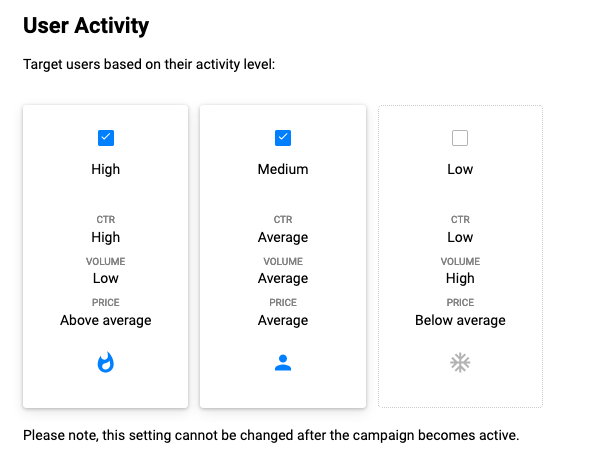 multiple user activity groups