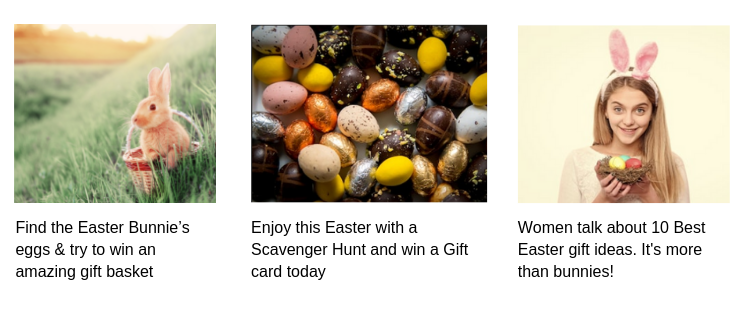 Help find the Easter Bunnie's eggs and get the chance to win an amazing gift basket!