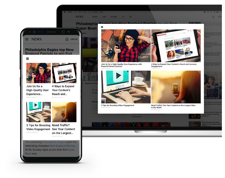 Interstitial ads: how they look on desktop and mobile