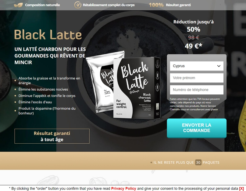 Landing page_black latte