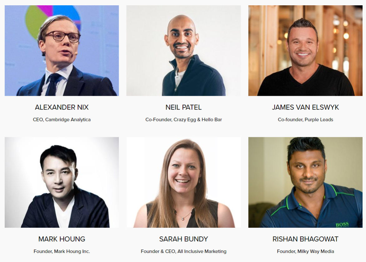 Speakers at Affiliate World Asia 2017