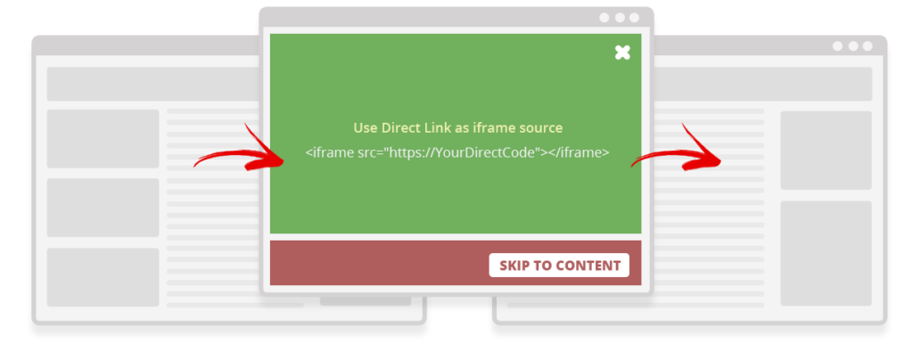Direct as a Fullscreen Ad