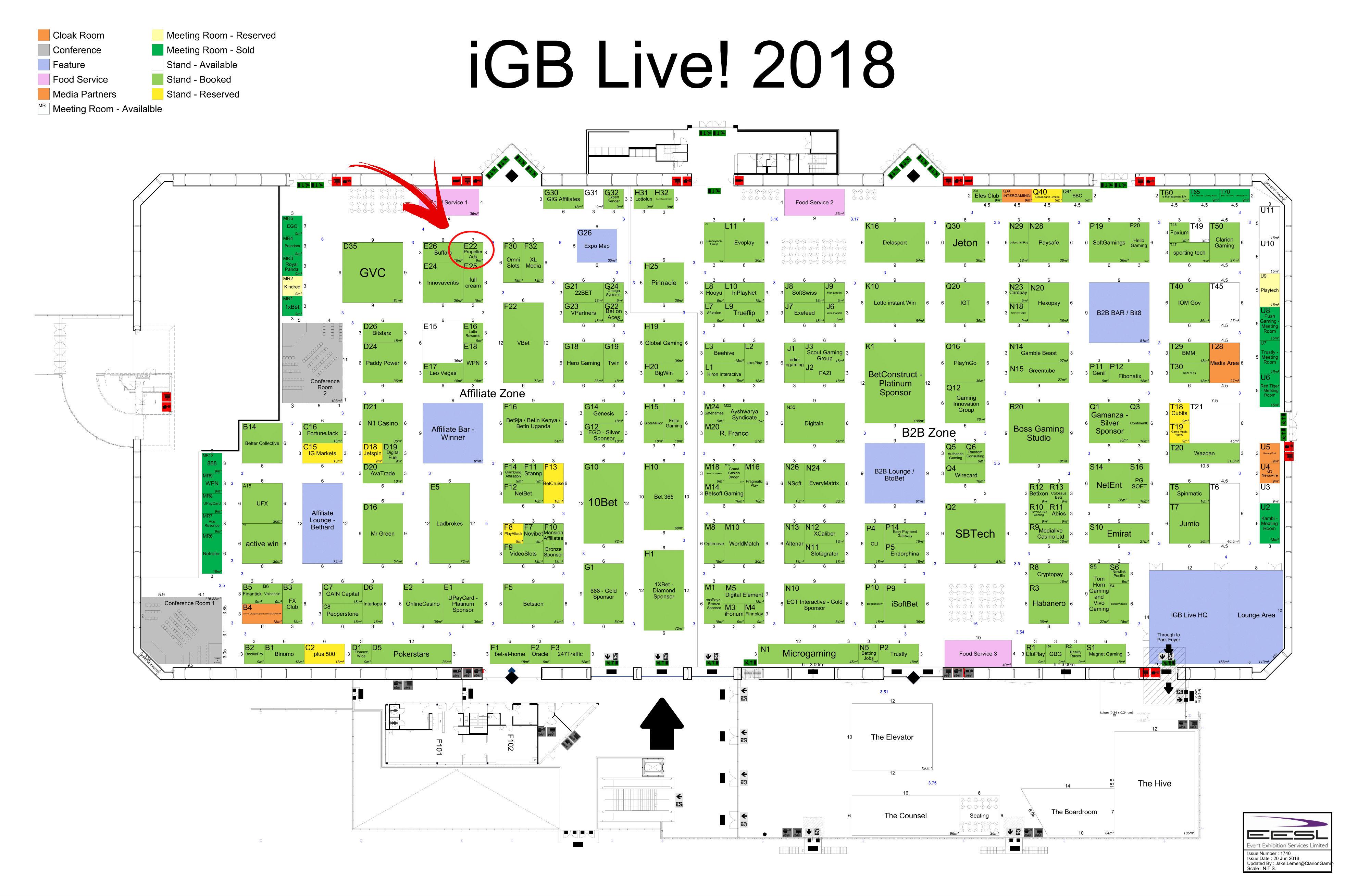 iGB Live! 2018 -Map