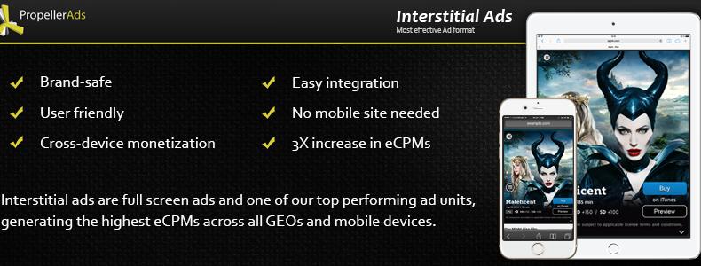 propellerads - mobile-interstitial-ads