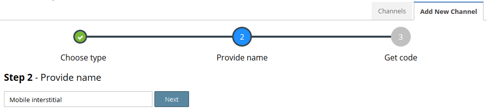 Step 4: Provide channel name