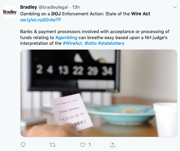 Twitter DOJ wire act