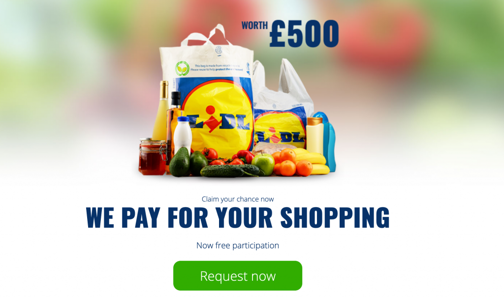 propellerads - lidl sweepstakes
