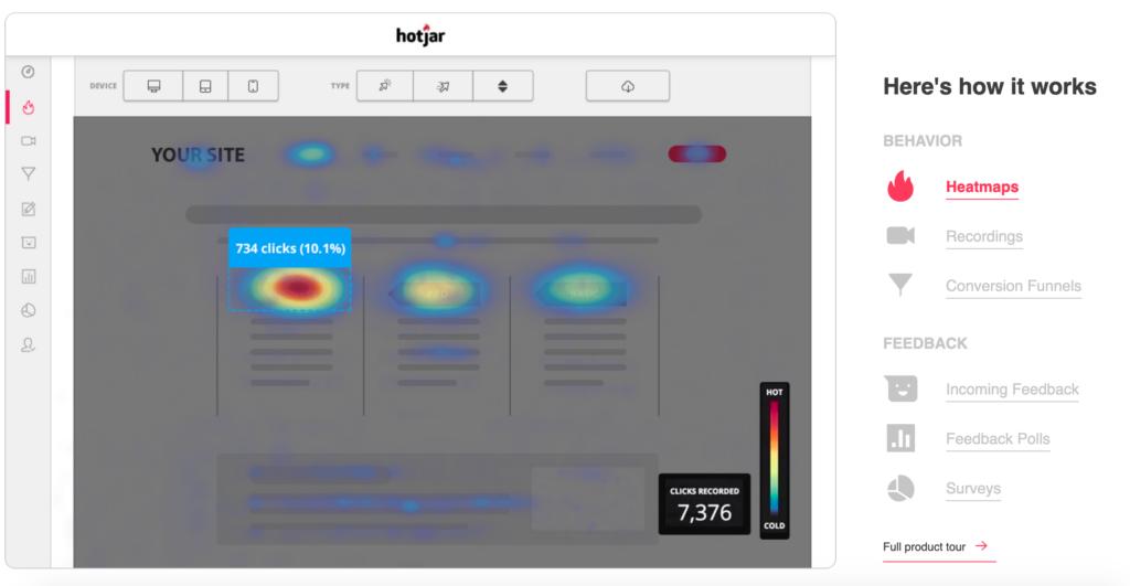 propellerads - hotjar - heat map tools for affiliates