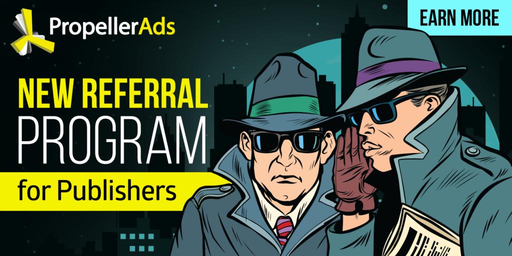 propellerads - publishers - referral program