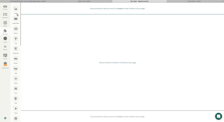 Ucraft Landing Page Builder