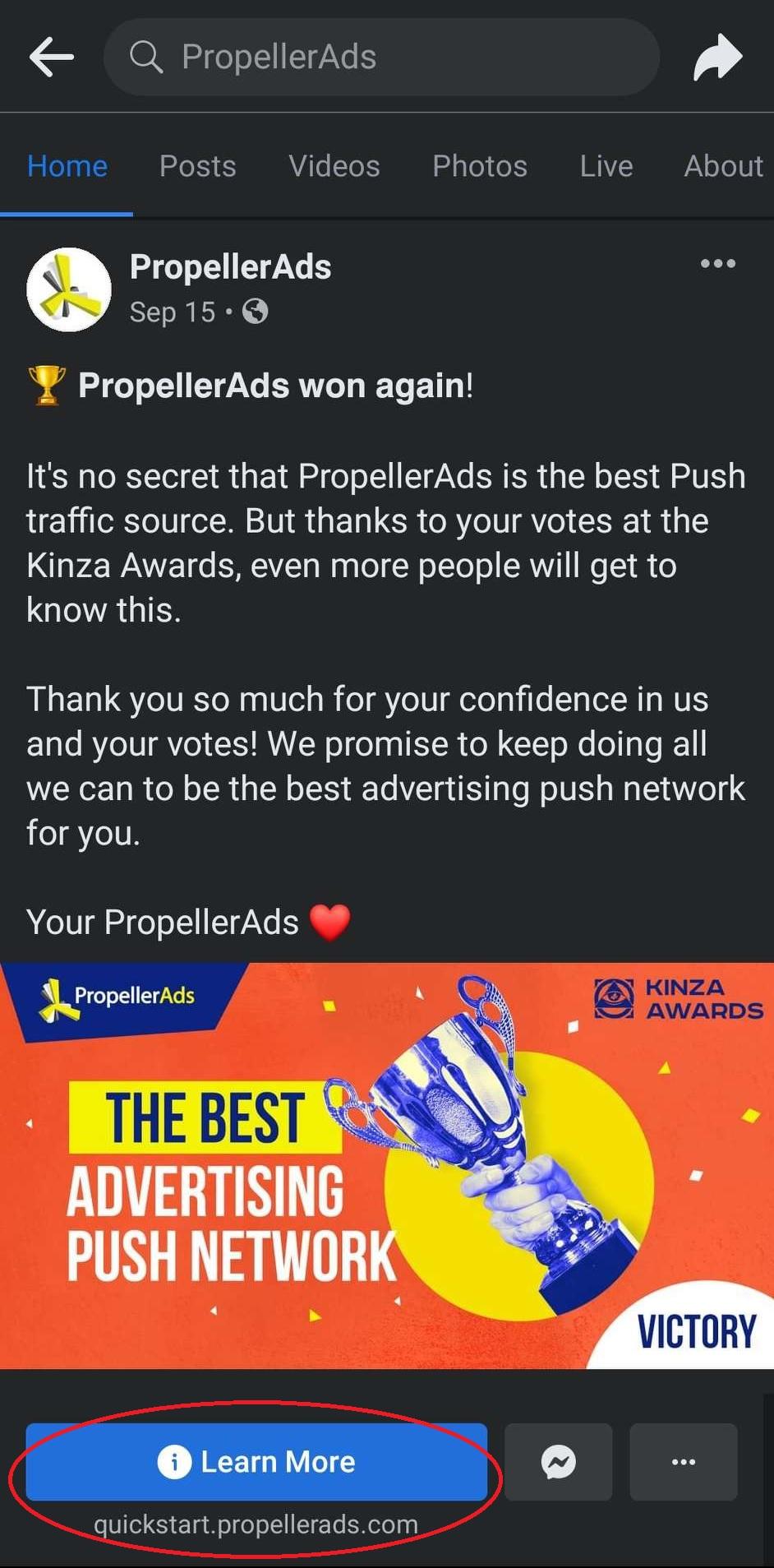 PropellerAds - Social Traffic